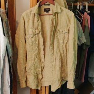 Black Brown Linen Shirt